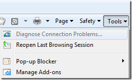 Internet Explorer 8: Manage Add-ons