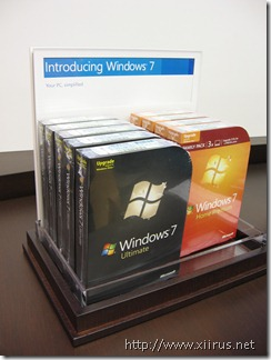 Microsoft Store (Fashion Square Mall): Windows 7 Box Shots
