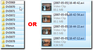 Select Files or Directories