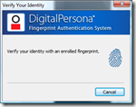 DigitalPersona: Verify your identity