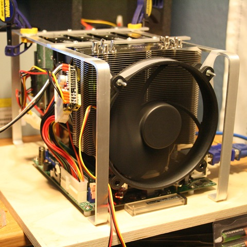 Home server build hardware pictures.