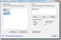 DigitalPersona Personal Fingerprint Logon Manager