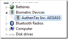 AuthenTec AES1610